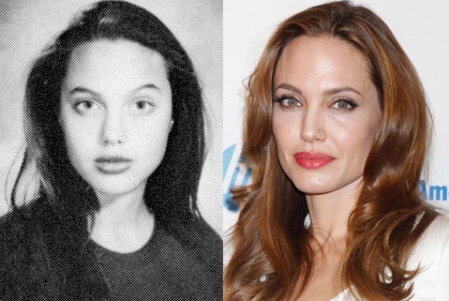 Анджелина Джоли в школе сильно отличалась от остальных: любила черный цвет, готические штучки, плохо училась, не ладила с преподавателями и совсем не общалась с одноклассниками.