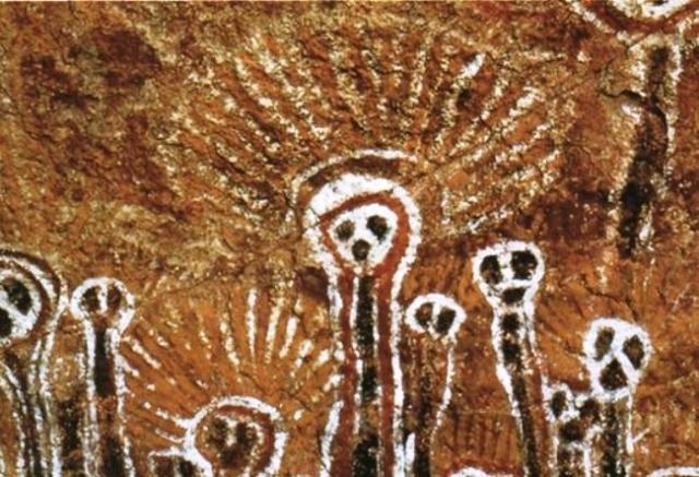 Подобные изображения находят и в Австралии, хотя материк изолирован от остальных.