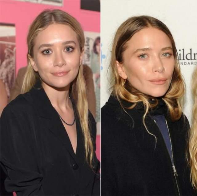 Мэри-Кейт Олсен Трудно точно определить, чем именно отличается внешность Мэри-Кейт Олсен в начале и в конце 2014 года. Однако, разница на этих двух фотографиях разительная. Однозначно, что теперь Мэри-Кейт будет трудно спутать с ее сестрой-близнецом Эшли.
