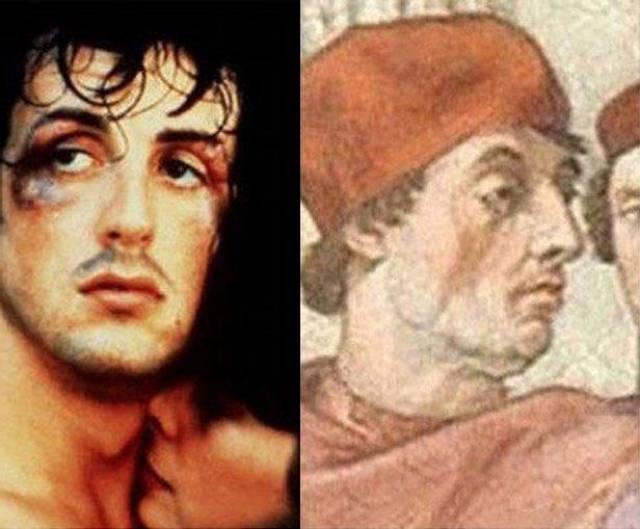 Сильвестр Сталлоне и Папа Римский Григорий IX.