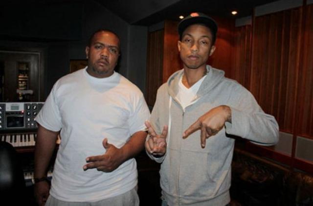 Фаррелл Уильямс и Timbaland. Музыканты и продюсеры двоюродные братья.