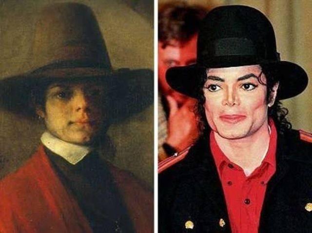 Майкл Джексон и голландский художник Барент Фабрициус.