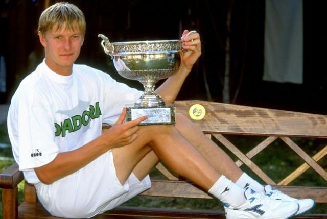 Евгений Кафельников. Звезда российского тенниса всегда был в отличной форме.