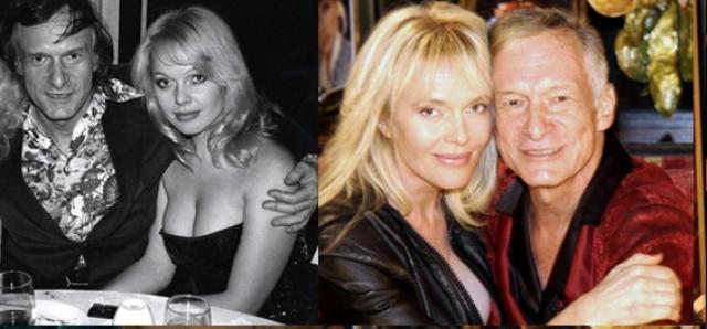 """Лилиан Мюллер была подружкой Хью с 1974 по 1976 годы. Ее можно увидеть в клипах группы """"Van Halen"""" и Рода Стюарта."""