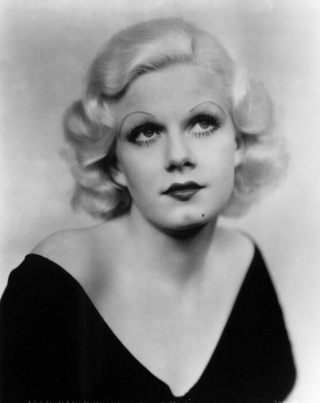 """Джин Харлоу. Американская актриса, кинозвезда и секс-символ 1930-х годов, первая получившая звание """"платиновой блондинки"""" потеряла супруга."""