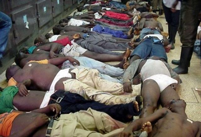 Погибли 123 человека. Большинство погибших скончались от травм, полученных в давке, часть - от удушья.