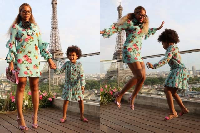 Бейонсе. Блю Айви (6 лет). Мама суперпопулярной певицы как-то показала в Instagram любопытную подборку фото, где запечатлены ее дочка и внучка.