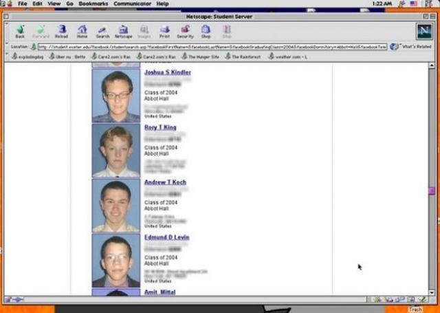 """В школе ежегодно публиковался справочник с именами, адресами и фотографиями учеников (буквально """"книга лиц"""" - Facebook)."""