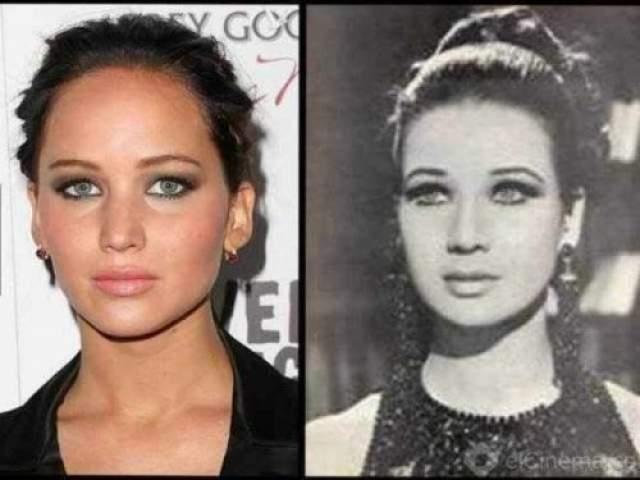Дженнифер Лоуренс и ныне здравствующая египетская актриса Зебеда Сарват, родившаяся в 1940 году
