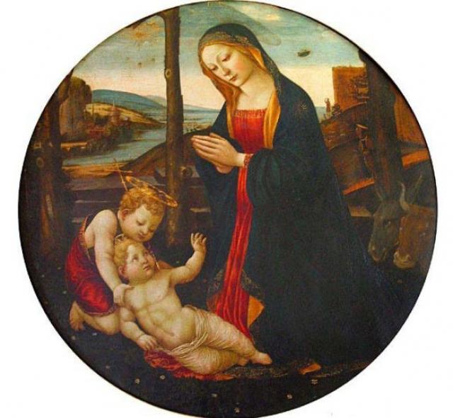 И на более поздних изображениях НЛО появляются с завидной регулярностью. Например, на фреске Мадонна со святым Джованнино 15 века.