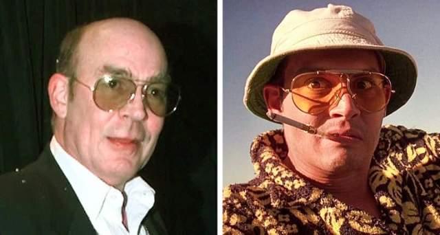 """""""Страх и отвращение в Лас-Вегасе"""", Хантер Томпсон Томпсон - американский писатель и отец Гонзо-журналистики (репортер пишет только о том, что попробовал и пережил сам и при этом не стесняется пользоваться нецензурной лексикой)."""