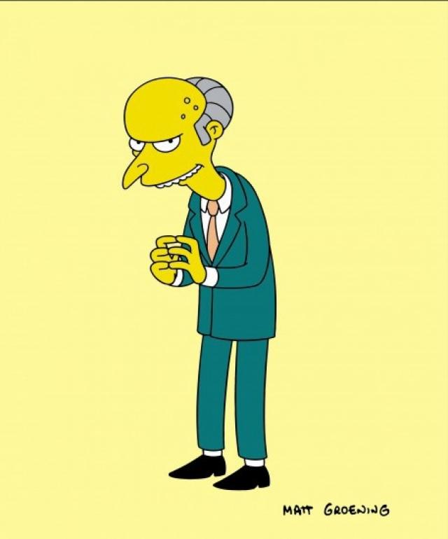 28. Чарльз Монтгомери Бернс – $1,5 млрд Владелец Спрингфилдской атомной электростанции, на которой безуспешно пытается работать Гомер Симпсон. Самый влиятельный и богатый житель Спрингфилда сосредоточен только на одном – увеличить свое богатство. Хотя на протяжении сериала он дважды (!) умудрился потерять свое состояние, деньги магическим образом всегда к нему возвращаются.