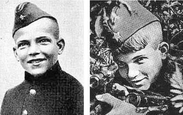 """Вася Курка, 13 лет. Он пришел на фронт со словами: """"А что, не возьмете? 13 лет мне, уже немалый. А сражаться буду, как все, вот увидите..."""" и сдержал свое слово."""