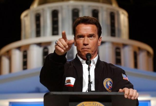 Арнольд поднимался и в любимой республиканской партии: от нее он дважды избирался губернатором Калифорнии.