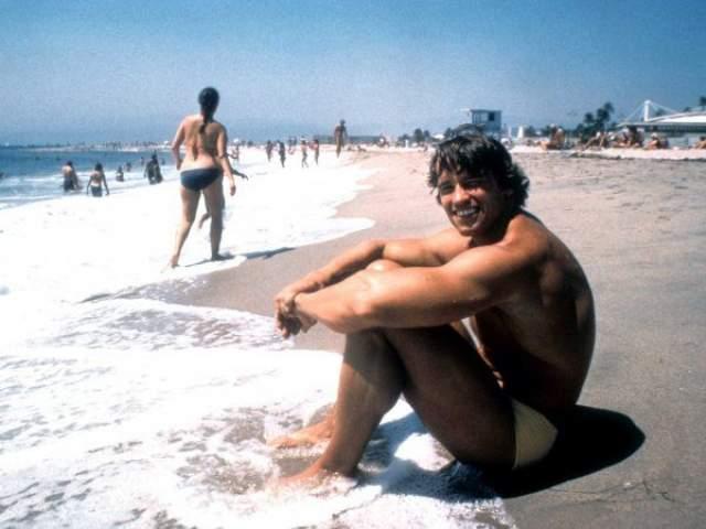 На пляже Venice, 1978 год.