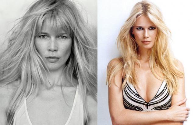 Клаудиа Шиффер. Культовая блондинка хороша и с косметикой, и без нее.