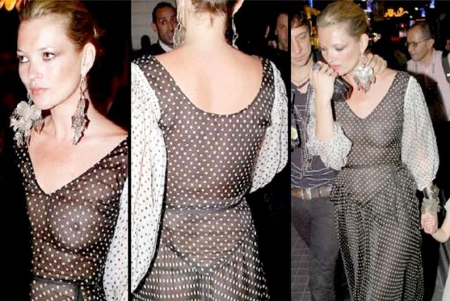 Кейт Мосс. В прозрачном платье модель появилась не где-нибудь, а в Турции, где ее наряд был расценен как провокация.