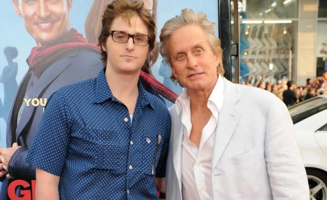 Майкл Дуглас и его сын Кэмерон.
