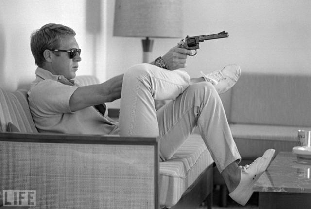 "Стив Маккуин (Steve McQueen, John Dominis, 1963). Актер фильма ""Великолепная семерка""."