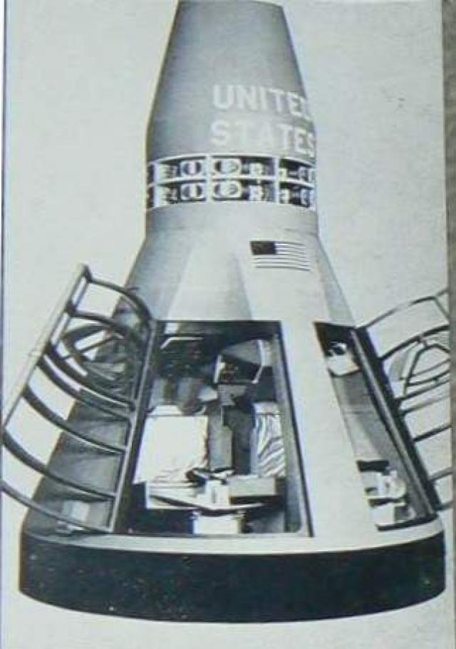 """8 апреля 1964 года во время испытательного полета беспилотного корабля """"Джемини"""" было замечено, что к кораблю пристроились четыре объекта непонятного происхождения."""