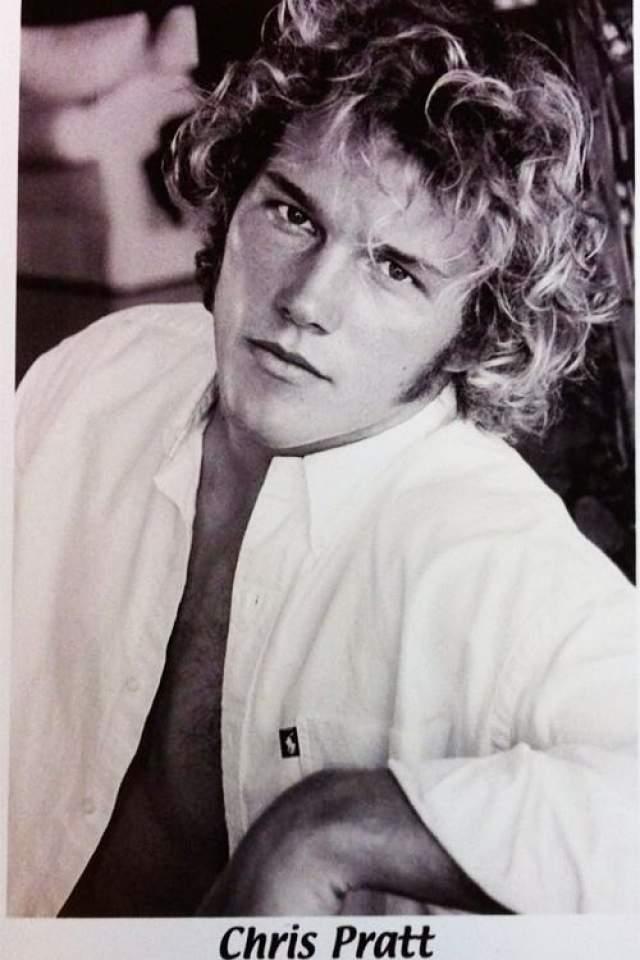 А это первое фото Криса Прэтта , которое он использовал для поиска работы актера.