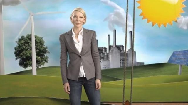 Австралийская актриса театра и кино Кейт Бланшетт активно участвует в программах защиты окружающей среды.