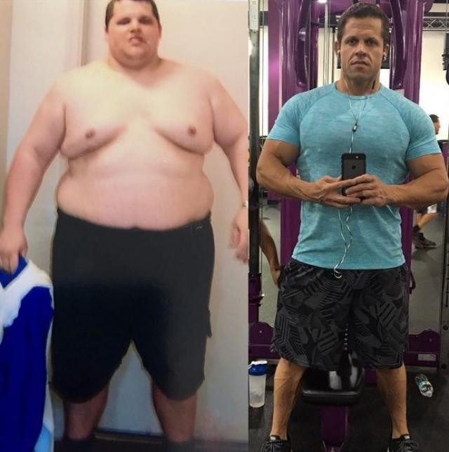 39-летний Росс Гарднер весил более 178 килограммов и потреблял 15000 калорий в день.