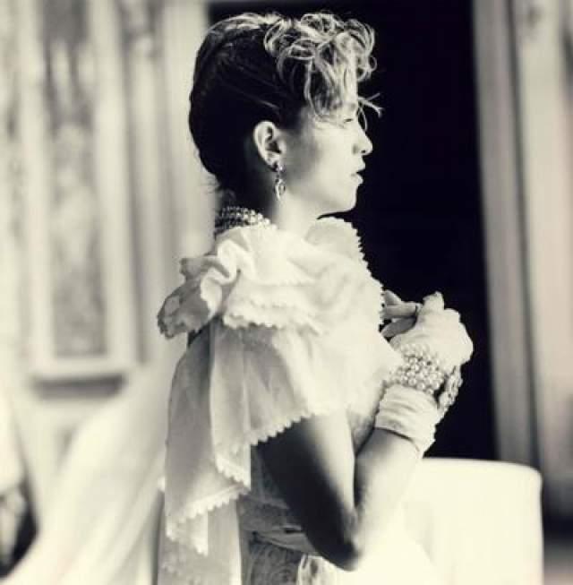 Мадонна на съемках клипа Like a Virgin, 1984 год