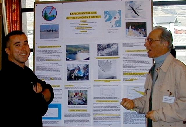 Группа итальянских геологов из Болонского университета, под руководством Луки Гасперини , еще в 1994 году выдвинула гипотезу о том, что кратером Тунгусского метеорита может быть озеро Чеко на реке Кимчу, расположенное всего в 8 километрах на северо-запад от общеизвестного эпицентра взрыва.