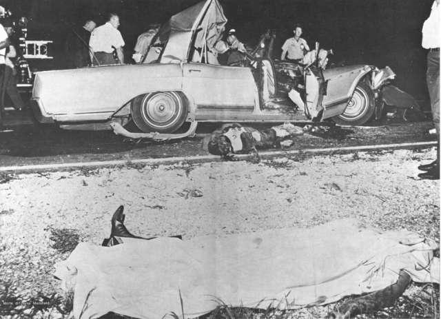 После вечернего выступления 28 июня 1967 года в Билокси (Миссисипи) Мэнсфилд, ее возлюбленный Сэм Броди, личный водитель Ронни Харрисон и трое ее детей выехали в Новый Орлеан, где актрисе предстояло утреннее интервью.