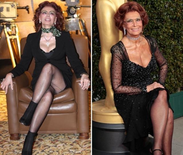 Такой актриса предстала перед фотографами в 75 и 78 лет.