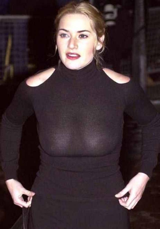 Кейт Уинслет. В начале карьеры актриса была полновата, обожала яркий макияж и носила рыжие волосы.