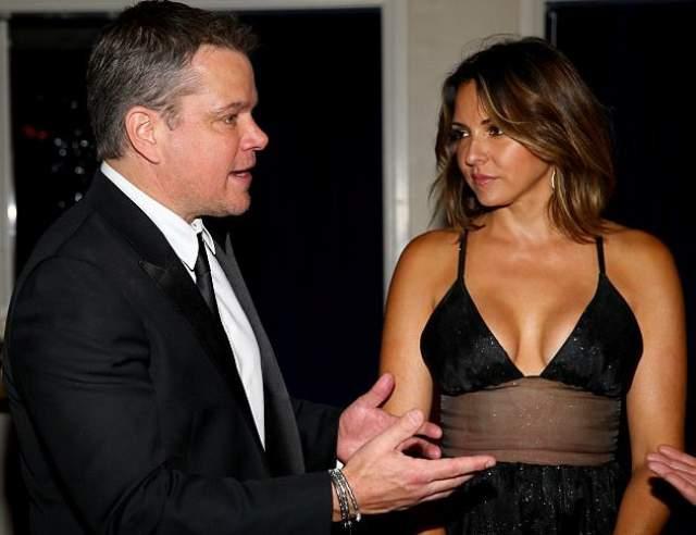 Лючиана Баррозо, жена Мэтта Дэймона. Актер встретил свою суженую в 2003 году в ночном клубе, где Лючиана там работала барменом.