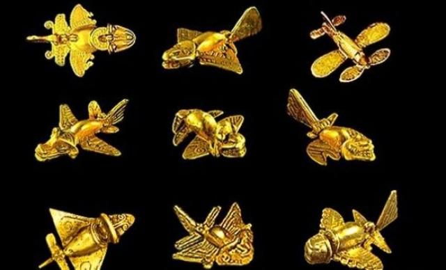Золотые самолетики инков. В захоронениях инков тысячелетней давности археологи уже более сотни лет время от времени обнаруживают небольшие забавные безделушки из драгоценных металлов, обычно золота, изображающие нечто не очень понятное.