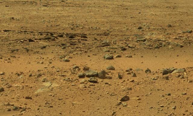 Типичный марсианский пейзаж.
