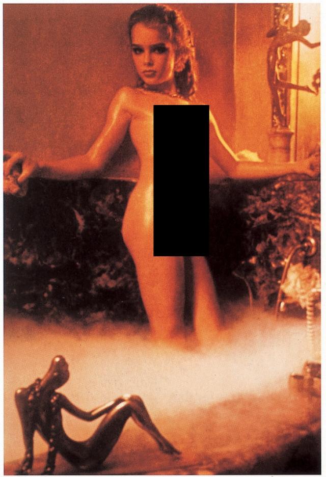 """Брук Шилдс . В 1975 году в возрасте 10 лет Брук с одобрения своей матери приняла участие в откровенной эротической фотосессии Гарри Гросса для """"Playboy Press"""", снявшись совершенно обнаженной. Впоследствии она много лет пыталась отсудить у журнала права на фото и негативы, но проиграла."""