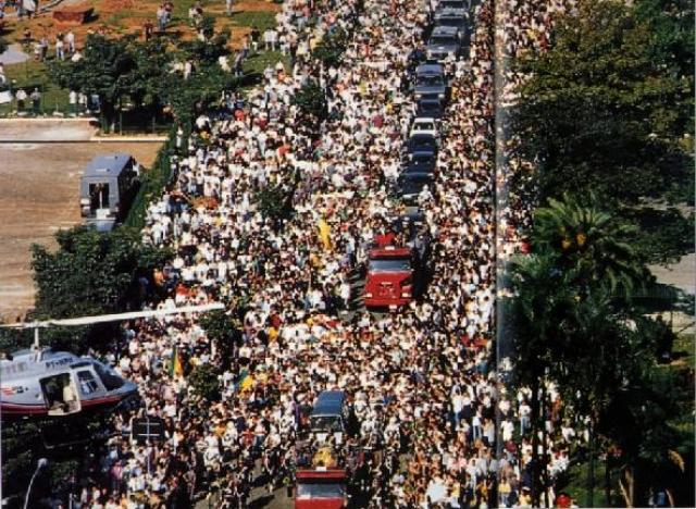 Смерть Сенны стала трагедией для многих болельщиков во всем мире, и в особенности в Бразилии. Бразильское правительство объявило трехдневный национальный траур. В день похорон Сенны в Сан-Паулу траурную процессию сопровождали несколько миллионов человек.