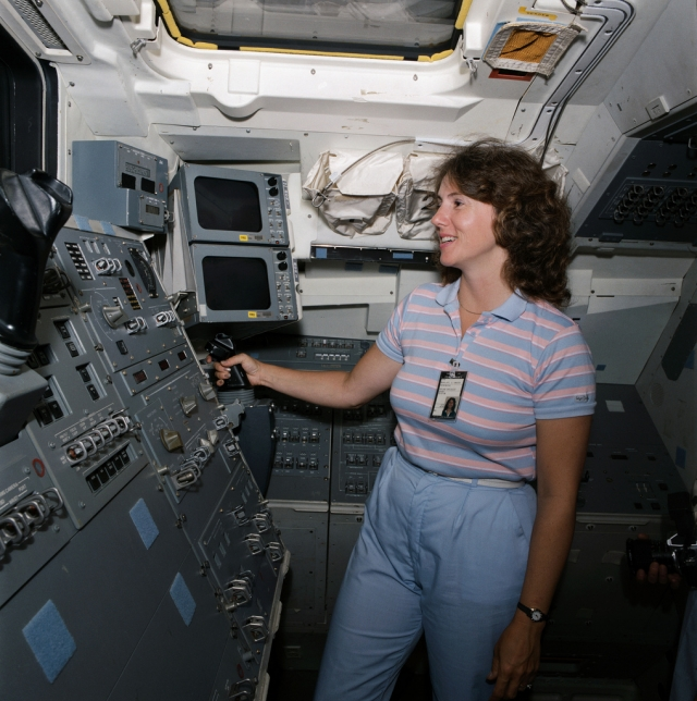 """Для нее это был первый полет в космос в качестве первого участника проекта """"Учитель в космосе""""."""