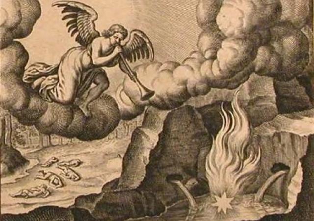 """В """"Откровении св. Иоанна Богослова"""" есть такие слова: """"Третий Ангел вострубил, и упала с неба большая звезда, горящая подобно светильнику, и пала на третью часть рек и на источники вод. Имя сей звезде Полынь; и третья часть вод сделалась полынью, и многие из людей умерли от вод, потому что они стали горьки"""" . Полынь обыкновенная имеет народные названия - чернобыль, чернобыльник."""