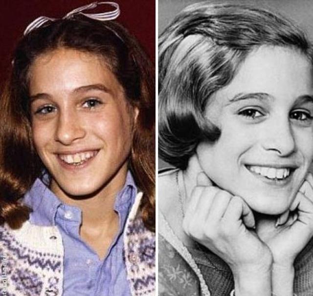 """Сара Джессика Паркер. В детстве будущая актриса была классическим """"гадким утенком""""."""