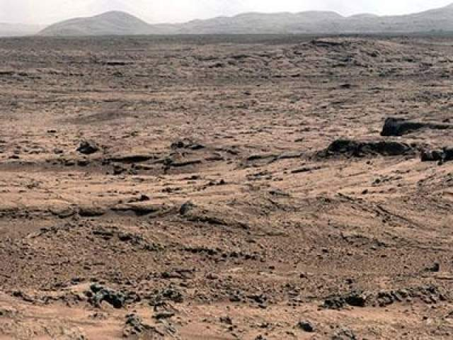 Панорама Марса, ноябрь 2012 года.