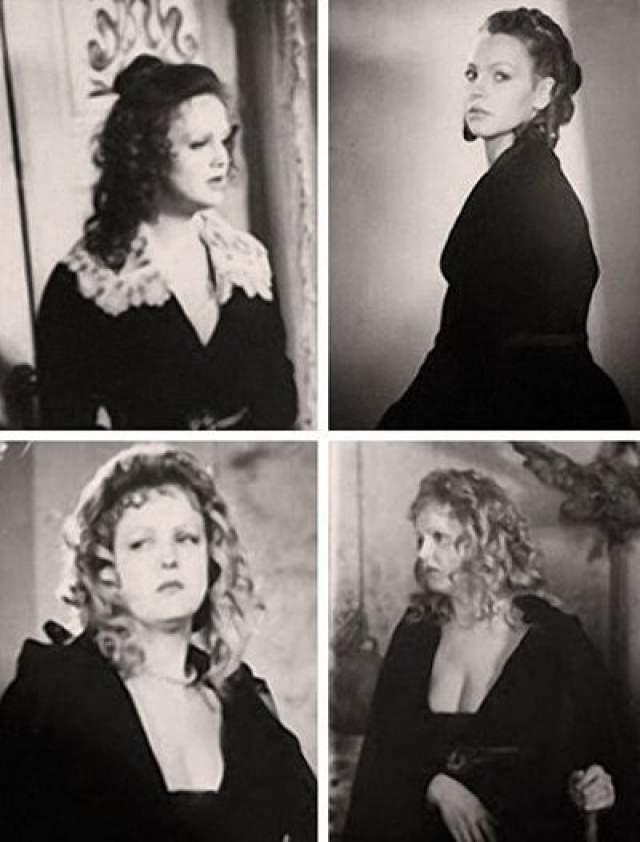 Фотопробы на роль Миледи Елены Соловей. Довольно странно представить столь мягкую актрису в роли коварной героини, которую в итоге блестяще сыграла Маргарита Терехова.