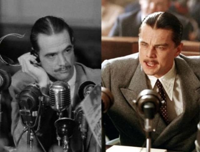 "Говард Хьюз и Леонардо ди Каприо , ""Авиатор""."