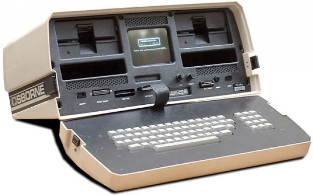 """Ноутбук. В апреле 1981 впервые на всеобщее обозрение был выставлен так называемый блокнотный компьютер, который назывался """"Osborne 1"""" и весил одиннадцать килограмм."""