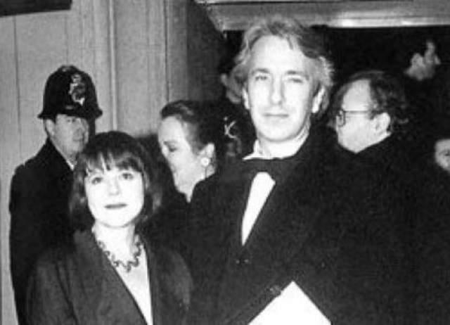 Алан Рикман и Рима Хортон. Пара познакомилась, когда ему было 19, а ей 18 - они полюбили друг друга с первого взгляда.