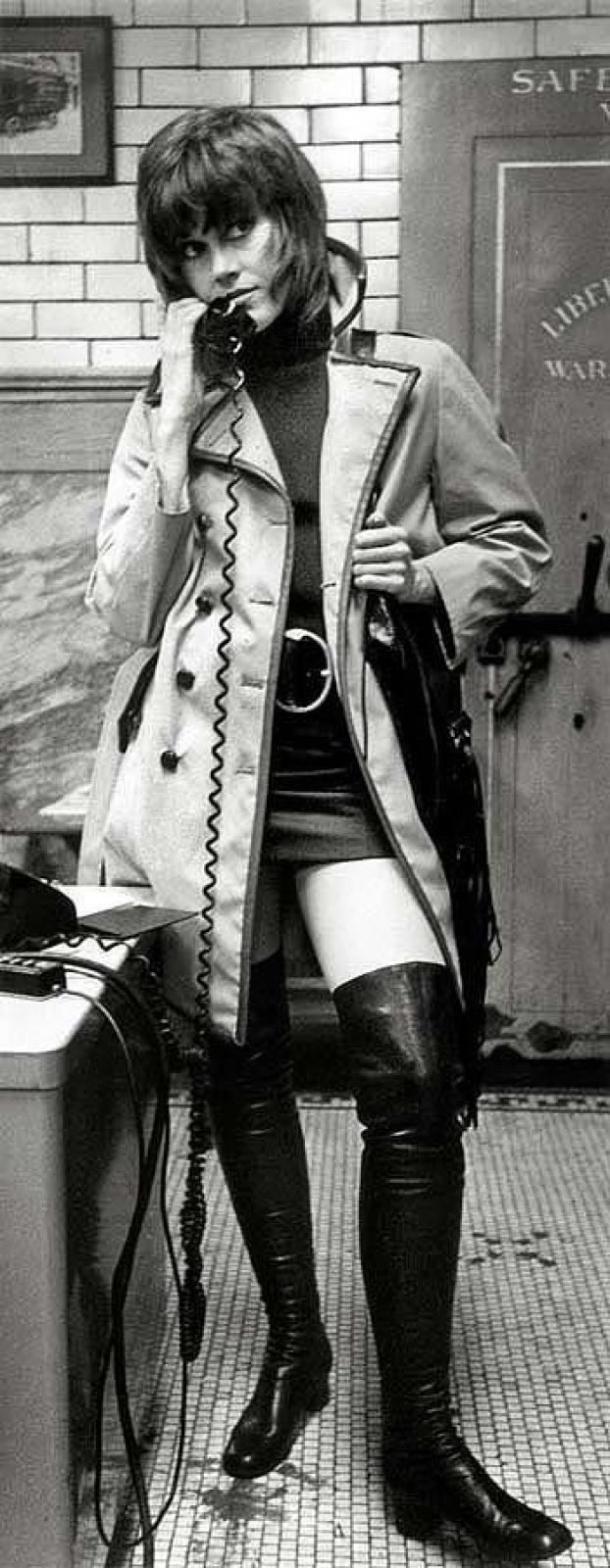 """Джейн Фонда, фильм """"Клют"""". В 1971 году актриса доказала, что нужно полностью отдаваться своей работе, а также что роль проститутки может принести актрисе """"Оскар""""."""
