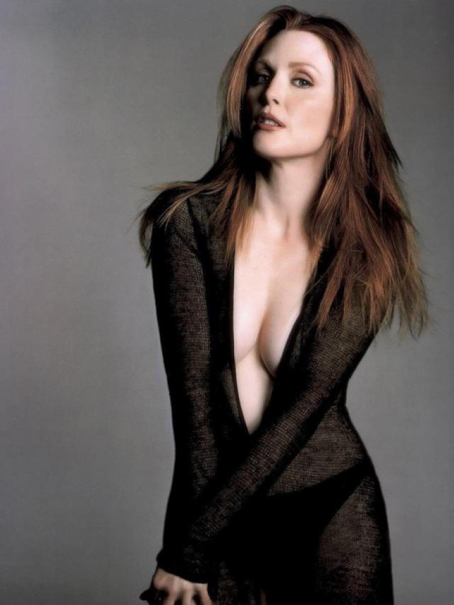 """Джулианна Мур. Актриса частенько признавалась, что в юные годы была щекастой и """"пухленькой""""."""