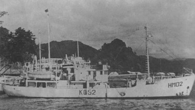 """Одна история гласит, что в 1952 году правительство Японии послало научно-исследовательское судно """"Кайо Мару №5"""", для расследования тайн Моря дьявола. И, конечно же, ни самого судна, ни 31 человека из состава его команды больше никогда не видели."""