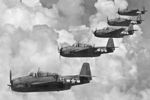 """Самым известным случаем с пропажей в Бермудском треугольнике, является исчезновение звена из пяти бомбардировщиков-торпедоносцев типа """"Эвенджер"""" 5 декабря 1945 года."""