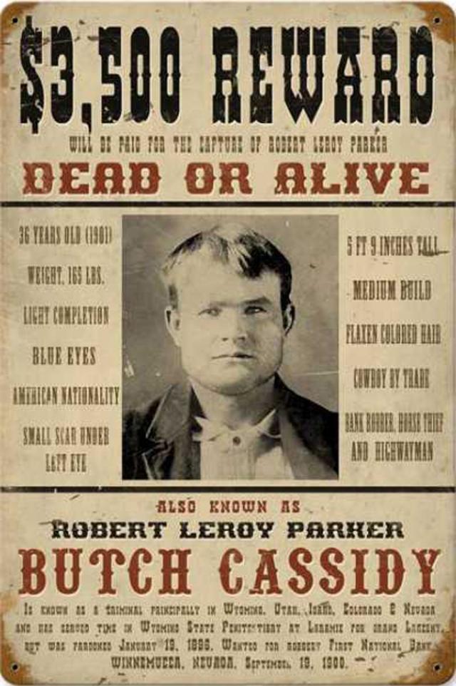 """Но некоторые утверждают, что видели его живого и невредимого и после 1908 года. В 1969 году был снят фильм """"Буч Кэссиди и Сандэнс Кид"""" о похождениях легендарных грабителей."""